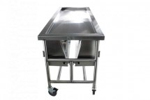 Covered Dissection Table With Lid Assist