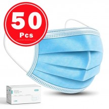 Disposable Face Masks, 50pcs/box, ear-looped (FDA & CE Approved)