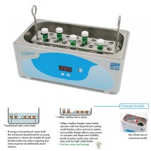 NE2-2D 2 Litre Unstirred Digital ShallowBath™ complete with Stainless Steel Perforated False Base